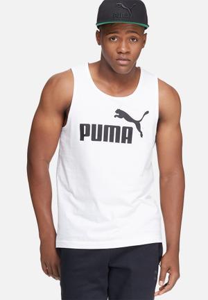 PUMA ESS No.1 Logo Tank T-Shirts White & Black