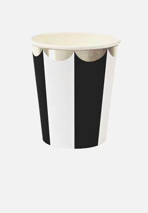 Meri Meri Black Party Cups Partyware Paper