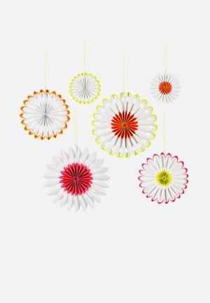 Meri Meri Neon Pinwheels Partyware Paper