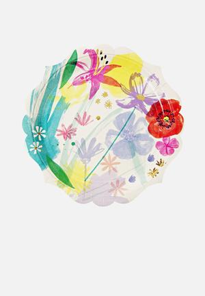 Meri Meri Painted Flowers Paper Plates Partyware Paper