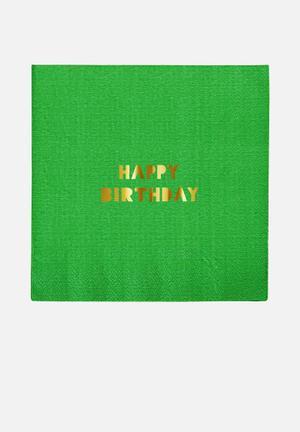 Meri Meri Happy Birthday Napkins Partyware Paper