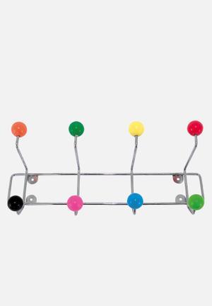 Present Time Hat Rack Saturnus With Coloured Balls Accessories Metal