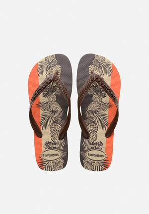 Havaianas Aloha Sandals & Flip Flops Orange, Grey