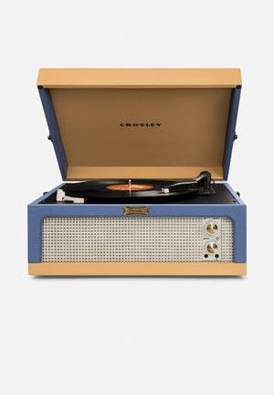 Crosley Dansette Junior Portable Turntable Audio Blue & Tan
