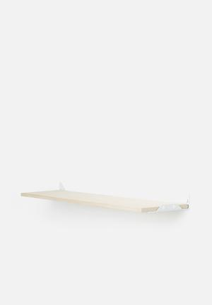 Smart Shelf Wedge Shelf  Birch Ply Wood & Steel