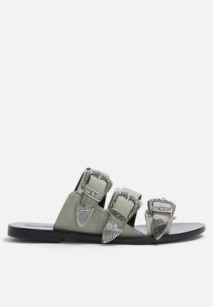 Sol Sana Peggy Slide Sandals & Flip Flops Dust Grey