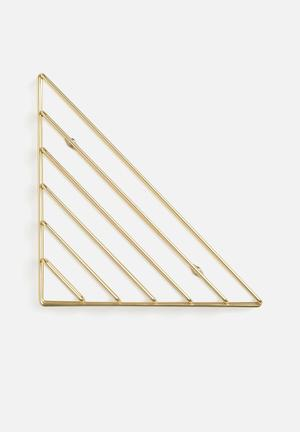 Umbra Strum Wall Shelf Brass Finish