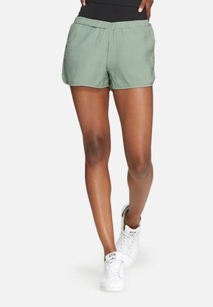 Dailyfriday Hammered Satin Jogger Shorts Moss Green