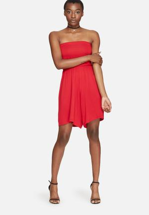 Dailyfriday Boobtube Playsuit Red