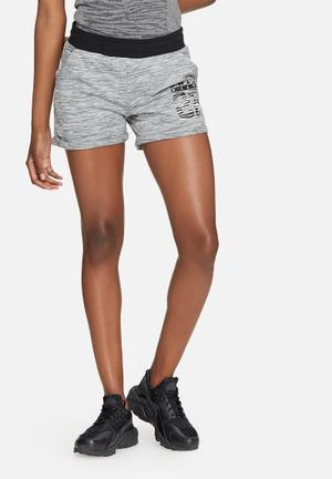 ONLY Play Cristal Sweat Shorts Bottoms Grey, White & Black