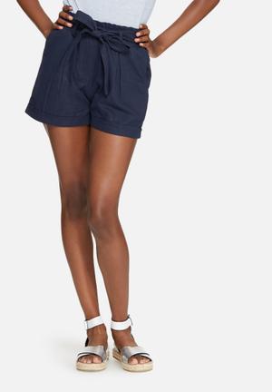 Dailyfriday Linen Shorts Navy Blue