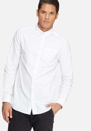 Basicthread Oxford Slim Fit Shirt White