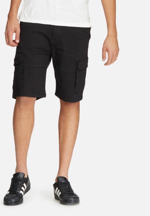 Basicthread Slim Utility Shorts Black