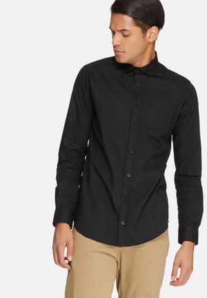 Basicthread Poplin Slim Fit Shirt Black