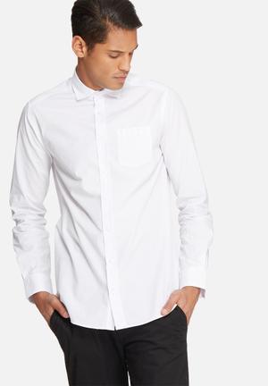 Basicthread Poplin Slim Fit Shirt White