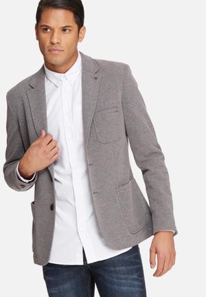 Casual Friday Harry Slim Blazer Jackets & Coats Grey