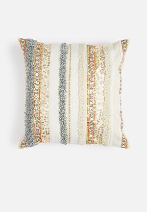 Sixth Floor Marrakech Cushion Cover 100% Cotton Back