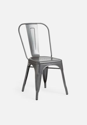 Sarah Jane Gun Metal Chair Metal