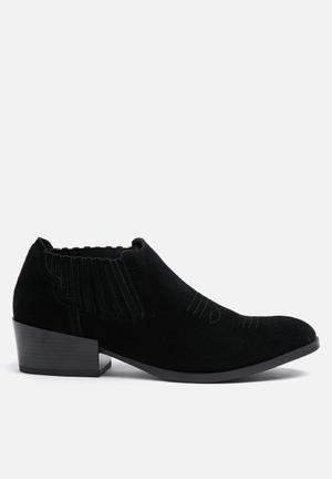 Vero Moda Western Suede Boot Black