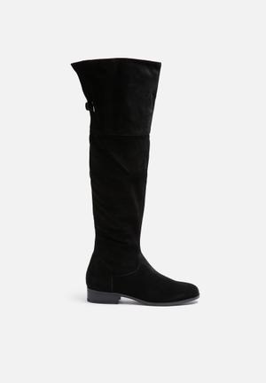 Vero Moda Mille Suede Overknee Boot Black