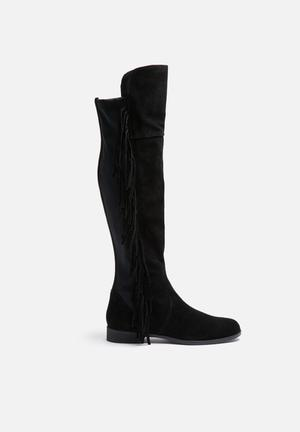 Vero Moda Anne Suede Overknee Boot Black