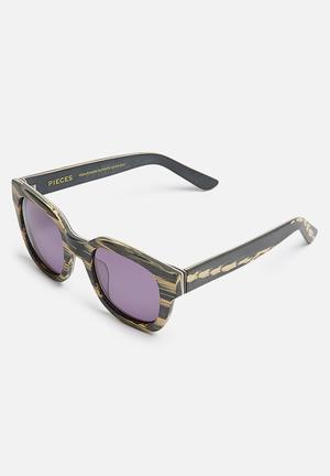 Pieces Goyo Eyewear Black & Beige