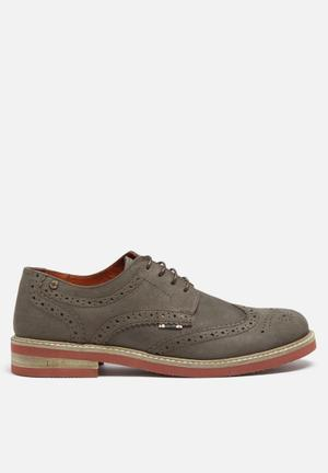 Jack & Jones Footwear And Accessories Smart Nuback Brogue Shoes  Grey