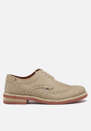 Jack & Jones Footwear And Accessories Smart Nuback Brogue Shoes  Stone