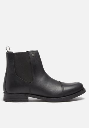 Jack & Jones Footwear & Accessories Simon Leather Chelsea Boot Black