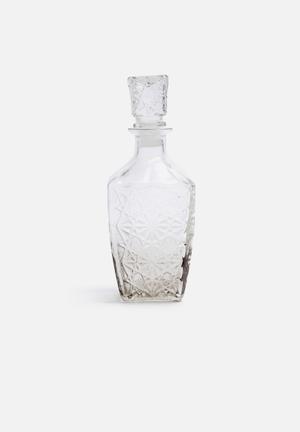 Sarah Jane Smoke Glass Bottle Accessories Glass