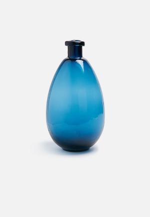 Sarah Jane Oval Bottle Vase Accessories Glass