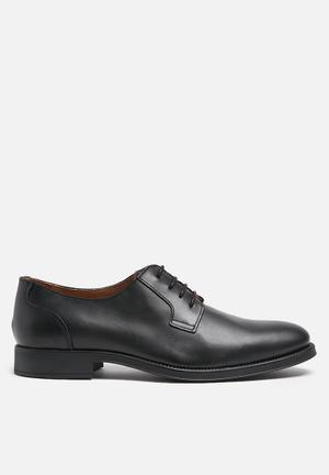 Selected Homme Oliver Leather Derby Formal Shoes Black