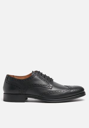 Selected Homme Oliver Leather Brogue Formal Shoes Black
