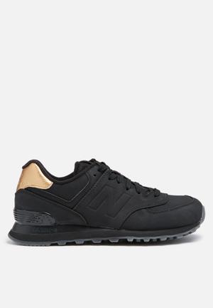 New Balance  WL574MTC Sneakers Frozen Metallic & Black