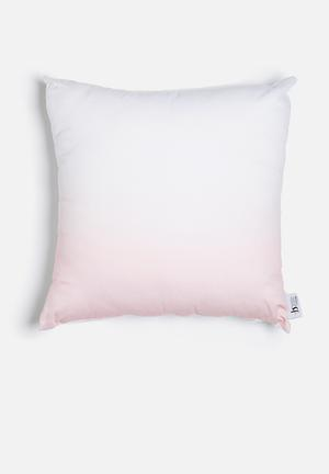 Ombre printed cushion