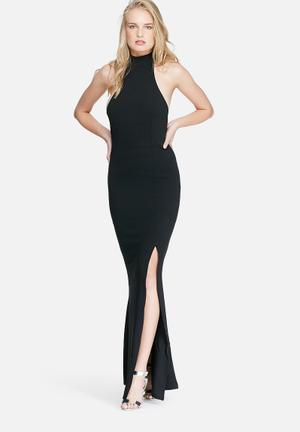 Missguided High Neck Maxi Dress Occasion Black