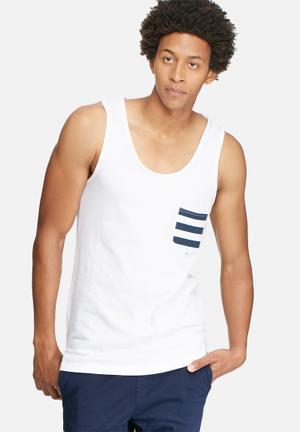 Basicthread Tail Pocket Vest White