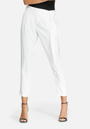 Dailyfriday Wrap Front Trousers White