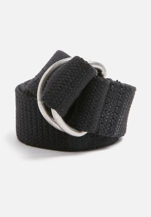 Basicthread Webbing Belt Black