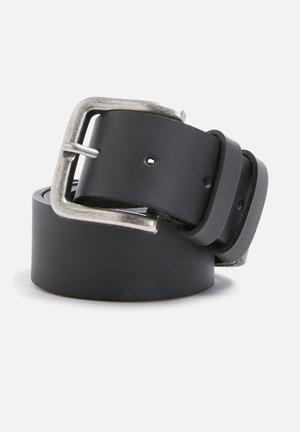 Basicthread Basic Leather Belt Black