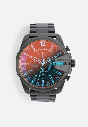 Diesel  Chief Series Watches Iridescent Crystal Case With Black Strap