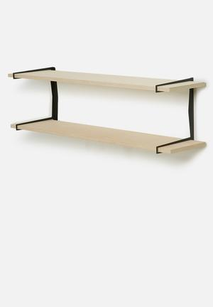 Smart Shelf Double Dash Shelf Birch Ply Wood & Steel