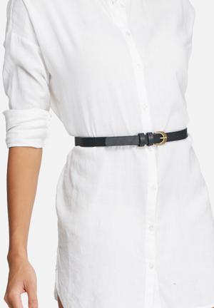 Dailyfriday Thin Leather Belt Black