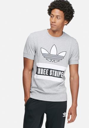 Adidas Originals Brand Tee T-Shirts Grey