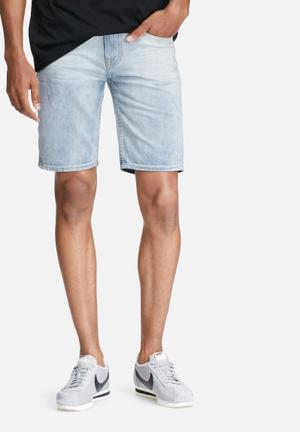 Bellfield Arvida Denim Shorts Blue