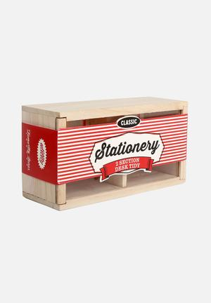 Temerity Jones Utility Stationary Box 2 Sectoins Accessories Wood