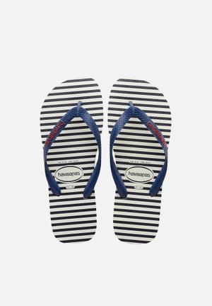 Havaianas Men's Top Nautical Sandals & Flip Flops Navy & White