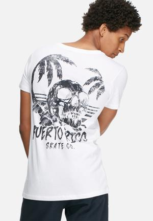 Basicthread Graphic Scoop Tee T-Shirts & Vests White