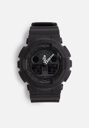 Casio G-Shock GA-100-1A1 Watches Black