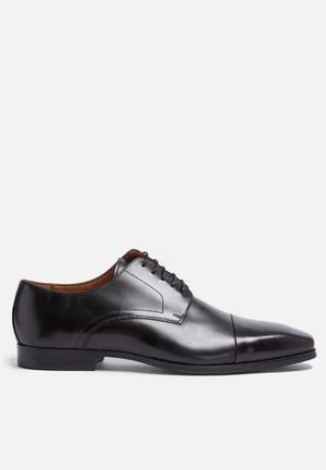 Steve Madden Milner Leather Derby Formal Shoes Black